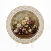 Настенная тарелка 32 см «Цветы 2»