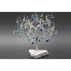 Дерево голубой+синий+бесцветный