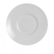 Тарелка мелкая «Соната»; фарфор; D=30см; белый