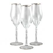 Бокал для шампанского 6 шт Очарование - платина