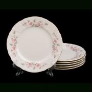 Набор тарелок 25 см. 6 шт «Роза серая 5396011»