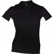 Рубашка поло женская, размер 42 хлопок; черный