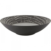 Салатник «Арборесценс» D=335, H=90мм; серый, черный