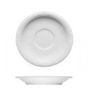 Блюдце «Штутгарт», фарфор, D=9см, белый