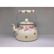 Японский эмалированный чайник на 2,5 литра, серия «Розы»