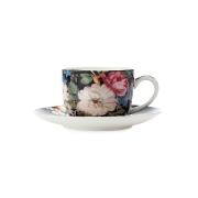 Чашка с блюдцем для кофе Полночные цветы в подарочной упаковке