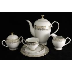 Чайный сервиз «Согдиана платинум» из 21 предмета на 6 персон