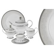 Чайный сервиз Вуаль белая 42 предмета на 12 персон