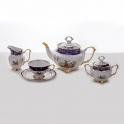 Сервиз чайный на 6 перс. 15 пред. «Охота Кобальт»