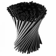 Трубочки «Фло» [500шт], D=3,L=100мм, черный