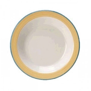 Тарелочка для масла «Рио Еллоу», фарфор, D=10.2см, белый,желт.