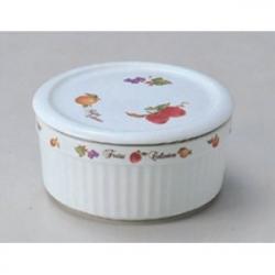 Баночка керамическая с керамической крышкой с уплотнителем «Фрукты»