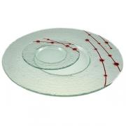 Тарелка мелк «Пирл» d=15см прозрач.