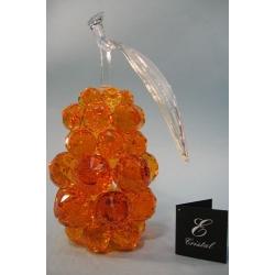 Груша, цвет топаз, прозрачный лист d 40 14х26 см