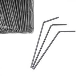 Трубочки серебрист.d=5мм,21см 1000шт.сг.