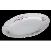 Блюдо овальное 26 см «Роза серая 5396011»