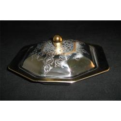 Блюдо с крышкой «Dubai Gold» 25х22,5 см