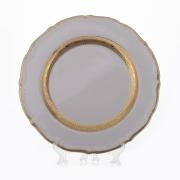 Набор тарелок «Лента золотая матовая1» 19 см. 6 шт.