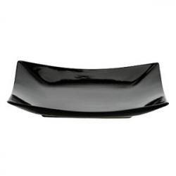 Тарелка квадр.21.5*21.5 черная