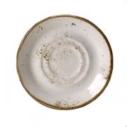 Блюдце «Крафт», фарфор, D=14см, белый