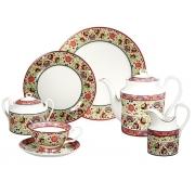 Сервиз чайно-обеденный, 6 перс, 27 пр, Восточные сказки, зеленый