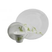 Сервиз чайный зеленый узор на 6 перон 19предметов