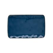Тарелка прямоугольная (синий) Interiors без индивидуальной упаковки