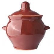 Горшок для запекания, керамика, 500мл, D=95,H=115мм, тем.корич.