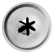 Насадка кондит. «Звезда», сталь нерж., D=22,H=34мм, металлич.