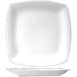 Тарелка мелкая квадр. 25см фарфор