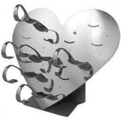 Этажерка «Сердце» 30*14*26см нерж.