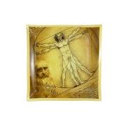 Тарелка квадратная Витрувианский человек (Л. да Винчи)