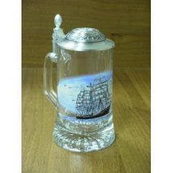Пивная кружка стеклянная «Корабль», 0.5 л
