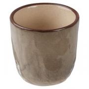 Стопка для саке «Кунстверк», керамика, 45мл, D=45,H=50мм, зелен.,коричнев.