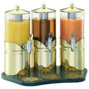 Диспенсер для сока тройной 2.5л*3; сталь нерж.; золотой,прозр.