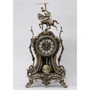 Часы «всадник» с маятником цвет - каштан 45х23см