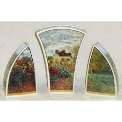 Ваза триптих «Дом художника»,28 см, фарфор, серия Monet,