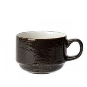 Чашка кофейная «Крафт», фарфор, 100мл, D=65,H=50,L=85мм, серый
