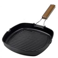 Сковорода-гриль 25*35см л. алюм. керам. пок
