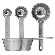 Набор мерных ложек 100+15+5+1.25мл; сталь нерж.; L=13см; металлич.
