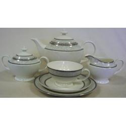 Чайный сервиз «Луиза Платинум» 40 предметов на 12 персон