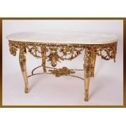 Стол «Наполеон» овальный зол 57х120х57 см.