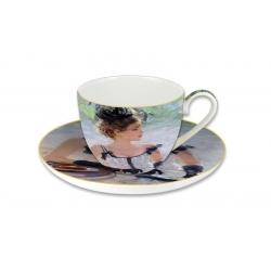 Чашка с блюдцем Утреннее чаепитие, в подарочной упаковке