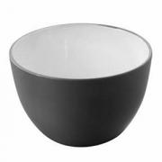 Салатник; фарфор; 500мл; D=125,H=80мм; черный,белый