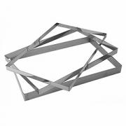 Рама кондитерская, сталь нерж., H=25,L=565,B=365мм, металлич.