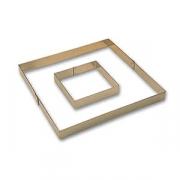 Рама кондитерская, сталь, H=35,L=380,B=380мм, металлич.