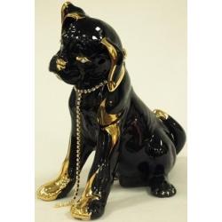 Статуэтка «Собака» (черная). Керамика. Длина - 23 см, высота -25,5 см