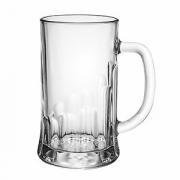 Кружка пивная «Пит», стекло, 650мл, D=86/95,H=160,B=130мм, прозр.