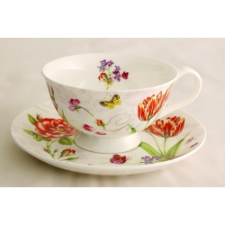 Чашка с блюдцем «Романтические цветы» 0,2 л