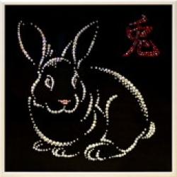Год кролика.Размер картины:25х25